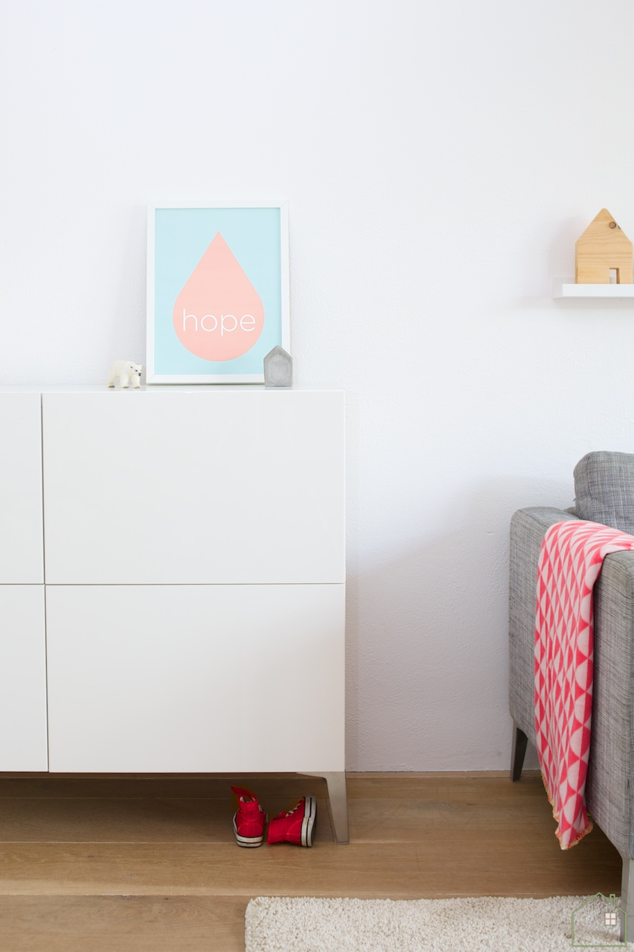 Give away zilverblauw poster